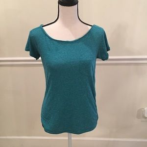 American Eagle feather light green/ blue top in xs